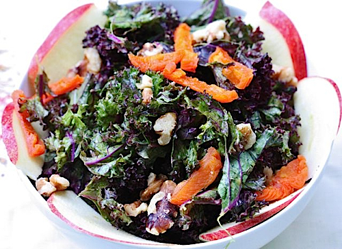 Kale Sprouts and Apricot Dressing