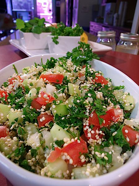 Raw Tabbouleh and Hummus