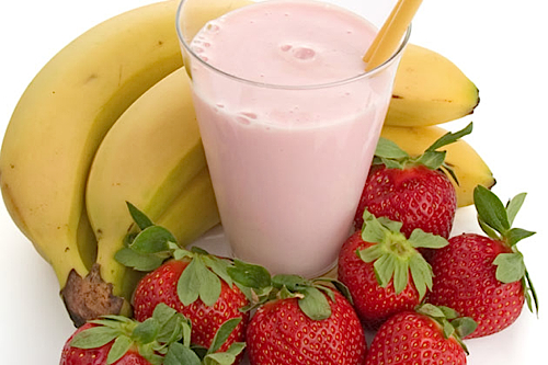 strawberry banana smoothie the chia makes this smoothie so thick and ...