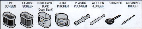 green star juicer parts